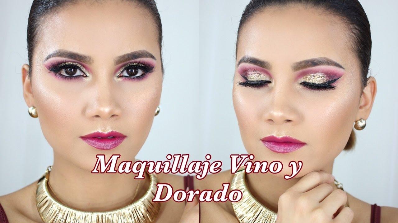 Descargar Maquillaje Ahumado Rojo Vino Y Dorado
