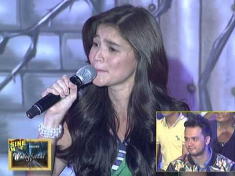 Anne sings the theme song of Dyesebel on her return on It's Showtime