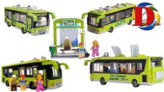 Мультики про машинки и автобус, езда на поезде. ЛЕГО мультфильмы для детей. Игрушки машинки