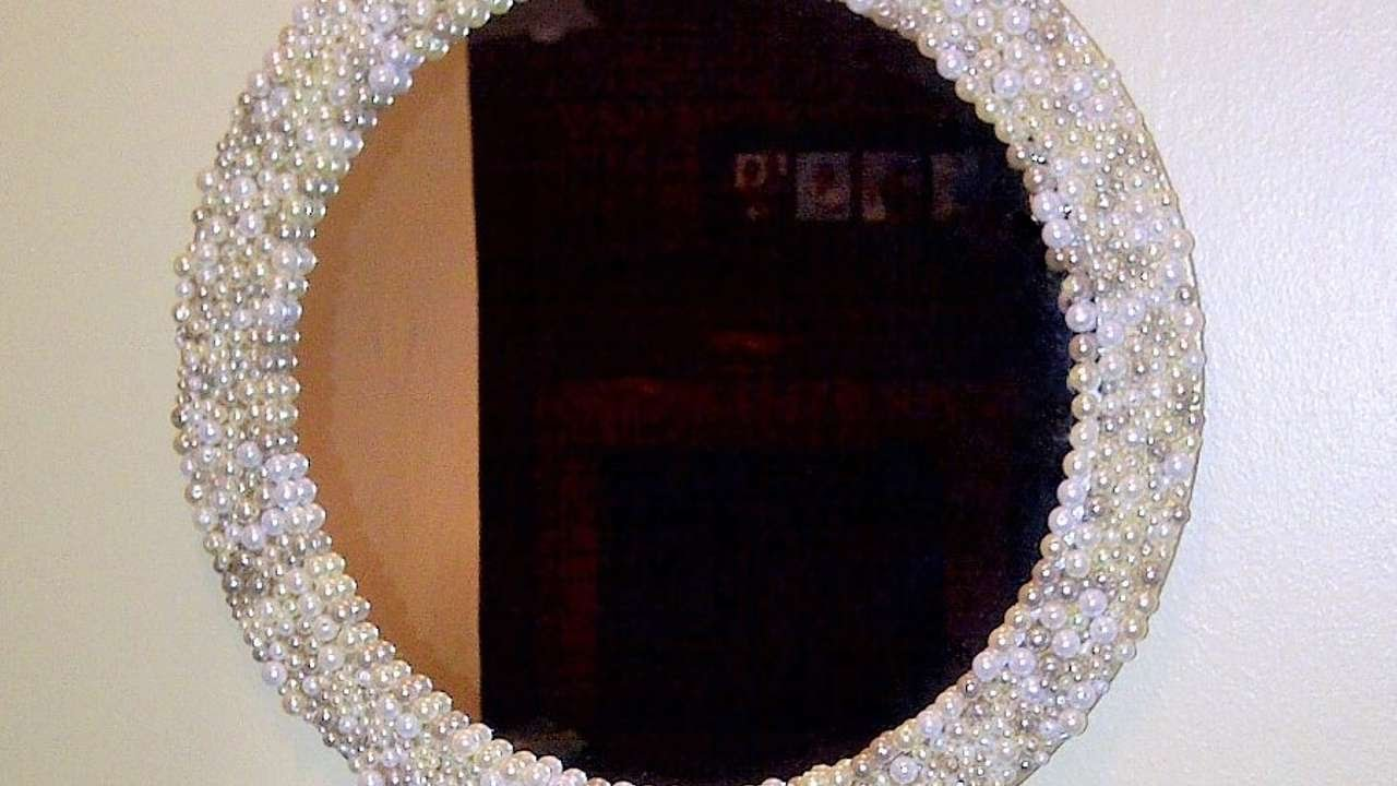 How To Make A Beautiful Pearl Mirror Diy Home Tutorial Guidecentral You