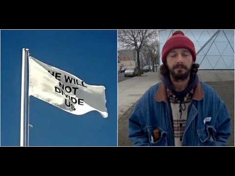 4chan Finds and Trolls Hidden Flagpole on Shia LaBeouf's 'He Will Not Divide Us' Stream!!!