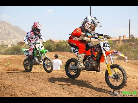 Kawasaki 65cc dirt bike on a supercross track!!!!! - YouTube