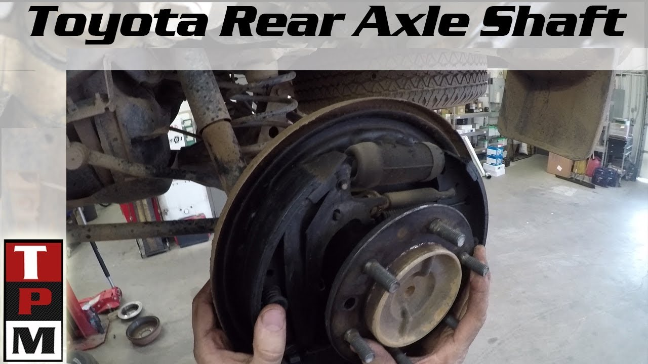 medium resolution of 1998 toyota 4runner rear axle removal leaking axle seal