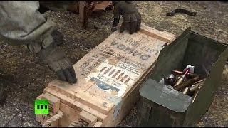 Российские сапёры нашли на бывшей базе боевиков в Алеппо оружие производства США