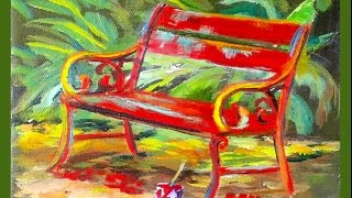 How to Draw in a Bench : A Cookie Crumb Lesson with Ginger Cook - July 18th