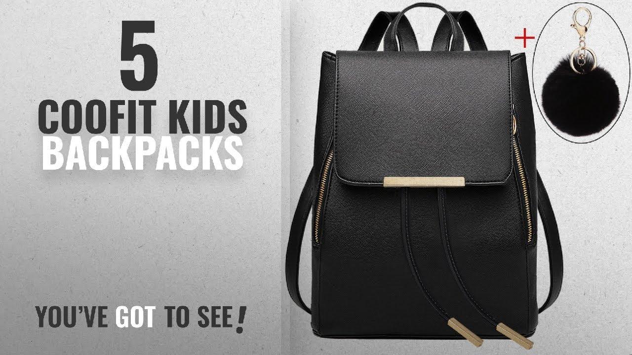 abe88c7da74a Best Coofit Kids Backpacks  2018   Coofit Black Leather Backpack for ...