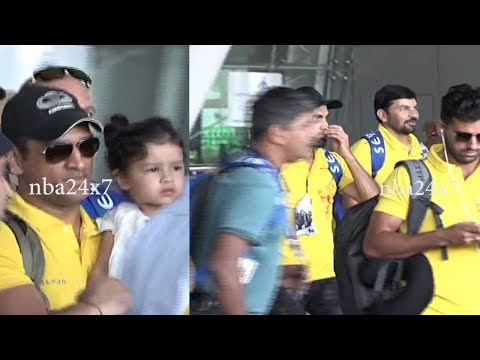 CSK Returns Chennai After Mumbai Indians Win | #IPL2018 | Chennai Super Kings | #CSKvsKKR | Nba 24x7