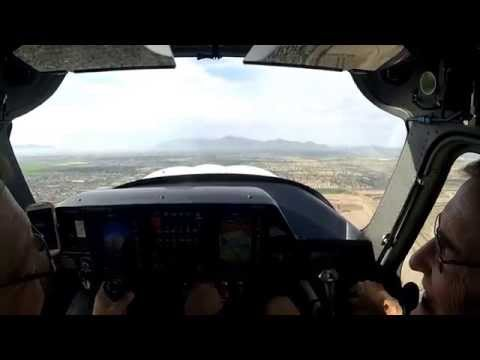 Glendale, Chandler then Ak Chin airports in a Cessna 162