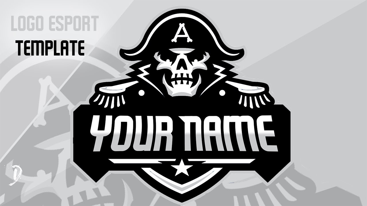 template psd logo e sport pirates youtube