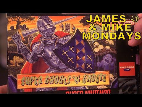 Super Ghouls 'n Ghosts (SNES) Part 1 - James & Mike Mondays
