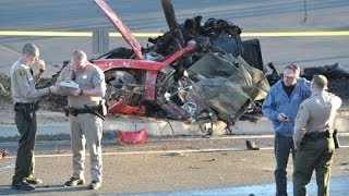 Paul Walker Dies car crash - Footage of Paul Horrible car Accident [Porsche crash]