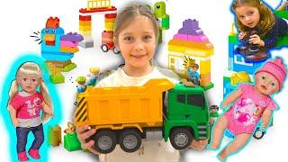 Ева и весёлая История для детей про куклы Беби Бон грузовую Машинку и Лизу