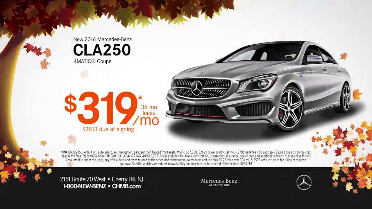 Mercedes Benz Lease >> Mercedes Benz Of Cherry Hill October Lease Specials Youtube