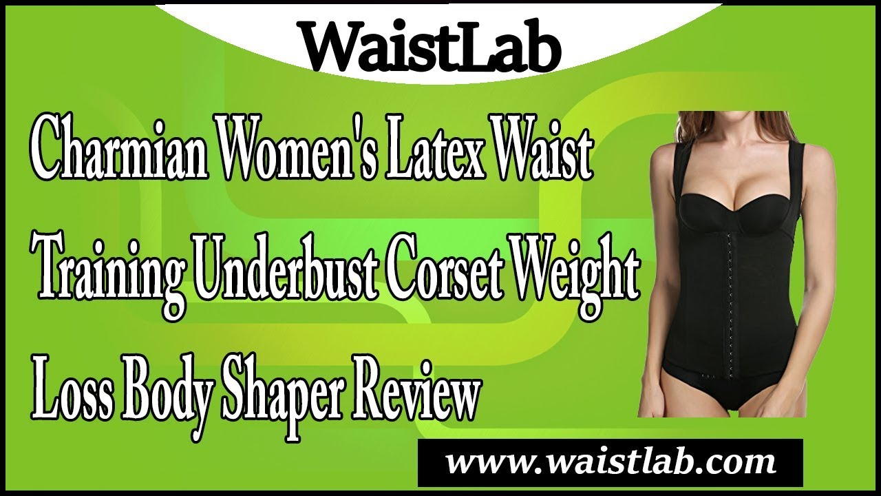 ef097891816 Charmian Women s Latex Waist Training Underbust Corset Weight Loss Body Shaper  Review