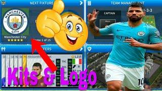 How To Create Manchester City Team Kits & Logo | Dream League Soccer 2019
