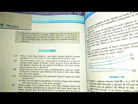 12 Th (NCERT) Physics-ELECTRIC CHARGE AND FIELD | #1 EXERCISE | CHAPTER -1| CLASS 12 | Pathshala