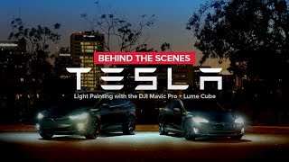 Tesla Light Painting with the DJI Mavic Pro and Lume Cube
