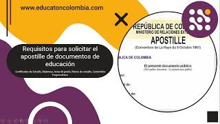 Requisitos para el apostille Diplomas