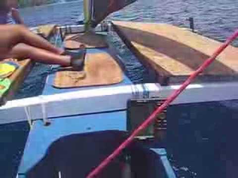 Wa'apa Sailing Canoe, Majuro Lagoon, Marshall Islands, Berger