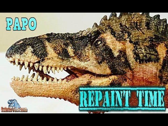 REPAINT TIME - Papo / Acrocanthosaurus