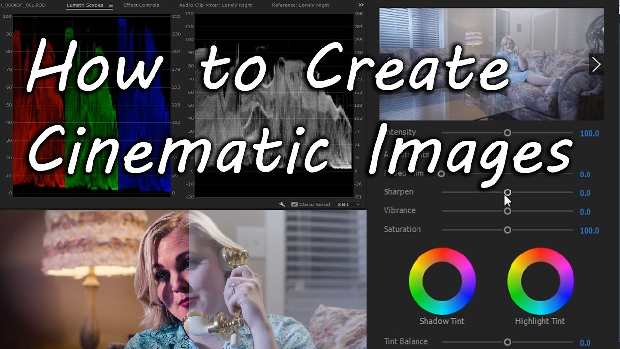How to create a Cinematic or Film Look with Lumetri in Premiere Pro CC 2017