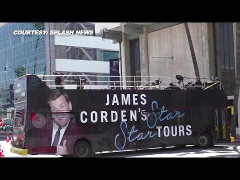 'Avengers: Infinity War' Stars Enjoy Bus Ride With James Corden