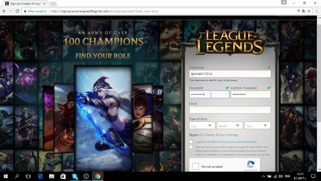 League Of Legends Register Youtube