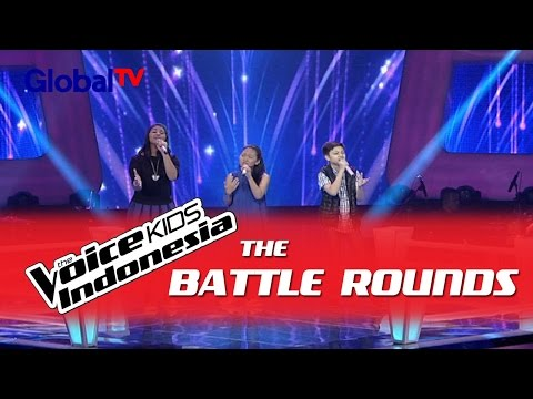 "Clarinta vs Gaizzka vs Angelia ""Stuttering"" I The Battle Rounds I The Voice Kids Indonesia 2016"