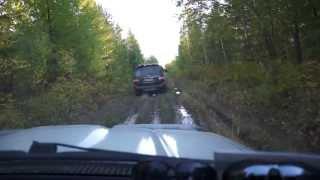 Toyota Land Cruiser 100 & Toyota SURF 185  на бездорожье В нереальных условиях  Иркутск 2013