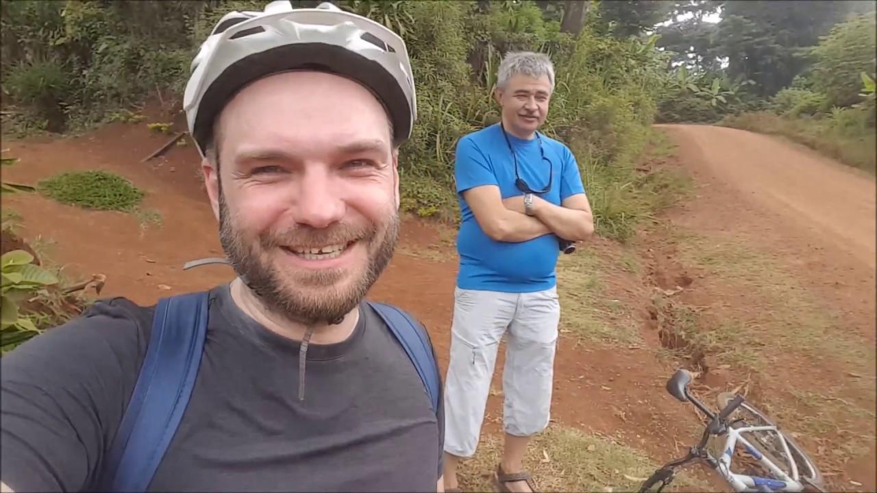 Танзания Кофе тур на велосипедах и Красивый водопад