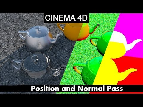 Cinema 4D Tutorial : How to  Export Normal and Position Pass (English)