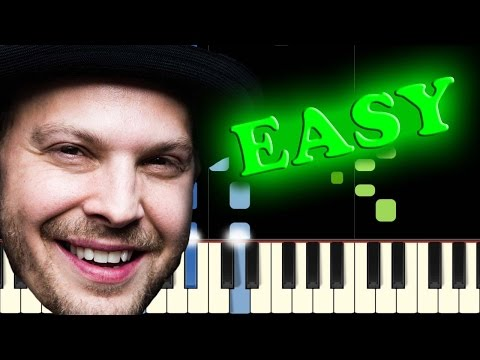 GAVIN DEGRAW - NOT OVER YOU - Easy Piano Tutorial