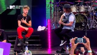 """MTV World Stage"" Justin Bieber - Die In Your Arms"