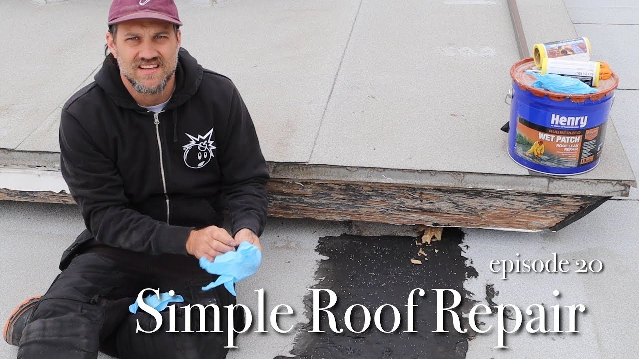 How To Do A Roof Repair Using Henry Wet Patch Youtube