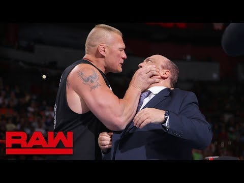 Brock Lesnar snaps and attacks Paul Heyman: Raw, July 30, 2018