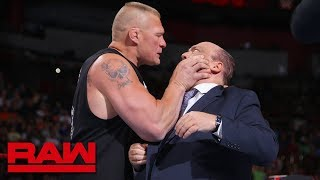 Brock Lesnar snaps and attacks Paul Heyman: Raw, July 30, 2018 thumbnail