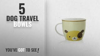 Best Dog Travel Bowls [2018]: UPSTYLE Cute Coffee Mug Animal Pattern Ceramic Cup Travel Mug with
