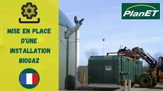 Mise en place d'une installation biogaz