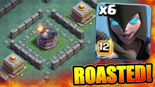 MAX LEVEL ROASTER MAZE BASE!! - Clash Of Clans - NEW STRONGEST DEFENSE TROLL!
