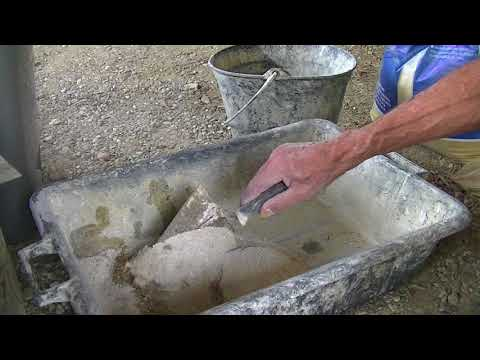 DIY plastering with cement mix, it's all in the sand!