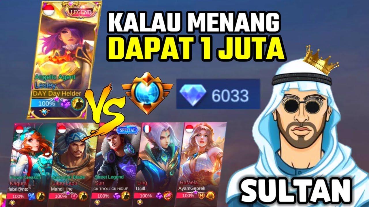 CHALLENGE DI KASIH 1 JUTA SAMA SULTAN ! TAPI LAKUIN INI DAN HARUS MENANG - Mobile Legends