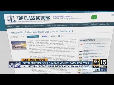 Class action settlements could mean money back for you