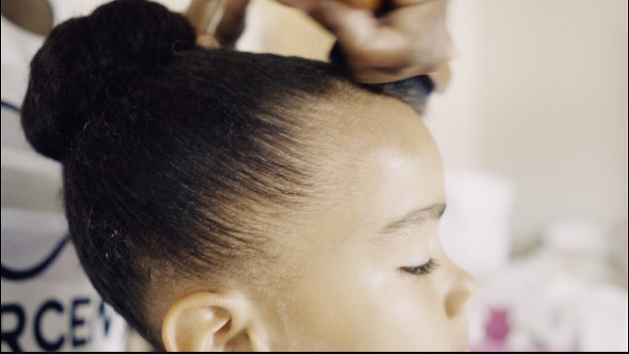 how to do a dance bun on natural afro hair