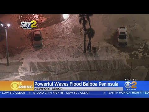 Balboa Island Newport Beach High Tide