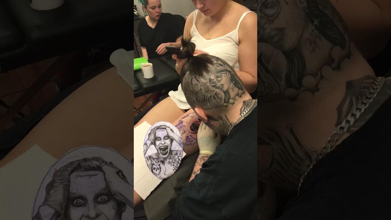 Joker Ha Ha Ha Tattoo: Joker Hahaha Tattoo Suicide Squad