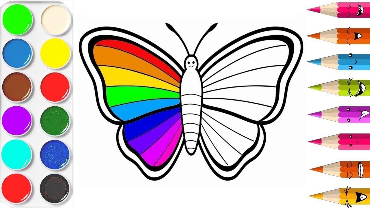Apprendre Les Couleurs Papillon Apprendre A Dessiner Video Educative Planete Coloriage Youtube