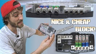 Best CAR AUDIO Distribution Block on AMAZON!?!? Fused 0 Gauge Distro w/ Wired SAFTEY LIGHT & Ground