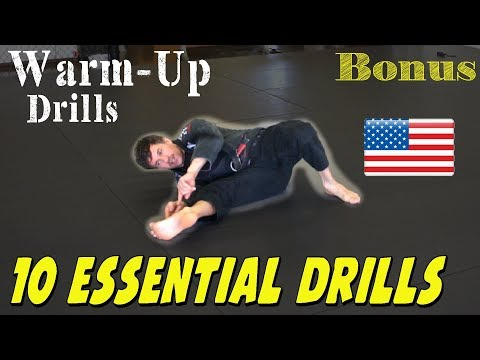 10 Jiu Jitsu Warm-Up Drill that every White and Blue Belt Must know.