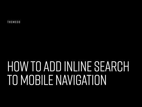 How to Add Inline Search to Mobile Navigation