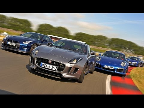 Jaguar F-Type R vs. Nissan GT-R vs. Audi R8 V10 plus vs. Porsche 911 Turbo S
